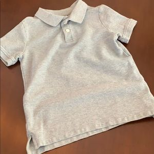EUC Gymboree Grey knit Polo size 5-6